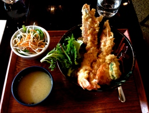 Ooebi Ten-Don (King Prawn Tempura Don)